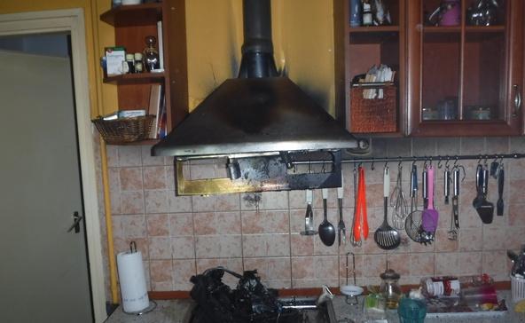 Kigyulladt az olaj a konyhában