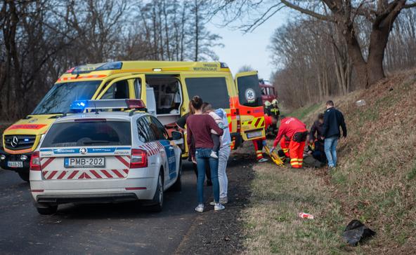 Egy ember megsérült a Nagyatád melletti balesetben