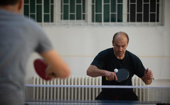 80 év feletti versenyző is pingpongozott