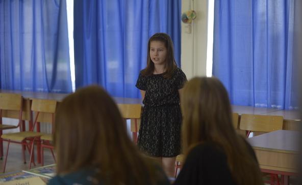 Szavaltak a nagyatádi kisiskolások a Költészet Napja alkalmából