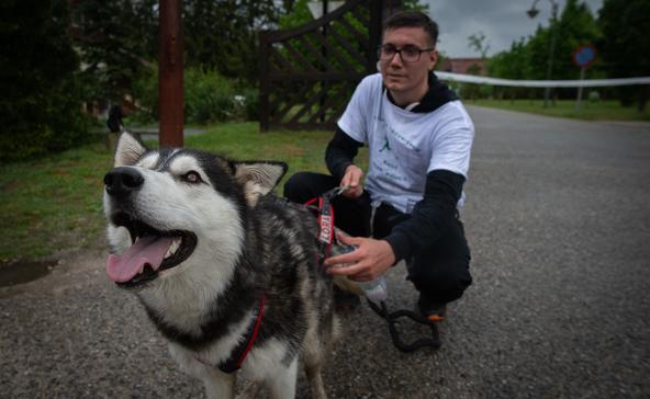 Kutya- és gazdifuttatás Kaszóban