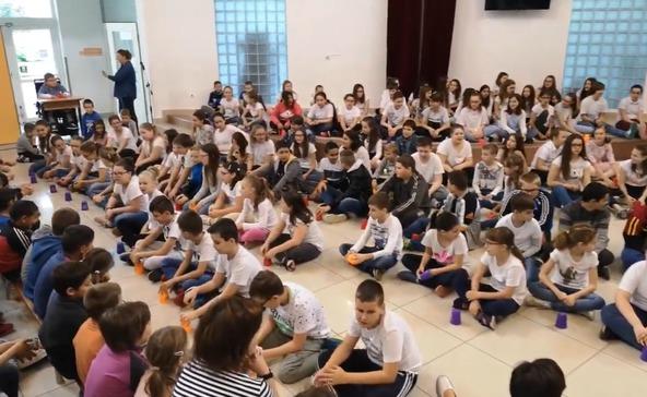 Flashmob a Bárdos iskolában!