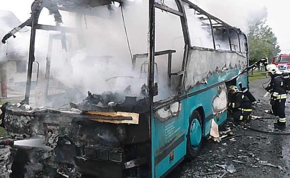 Kiégett egy autóbusz Somogyban