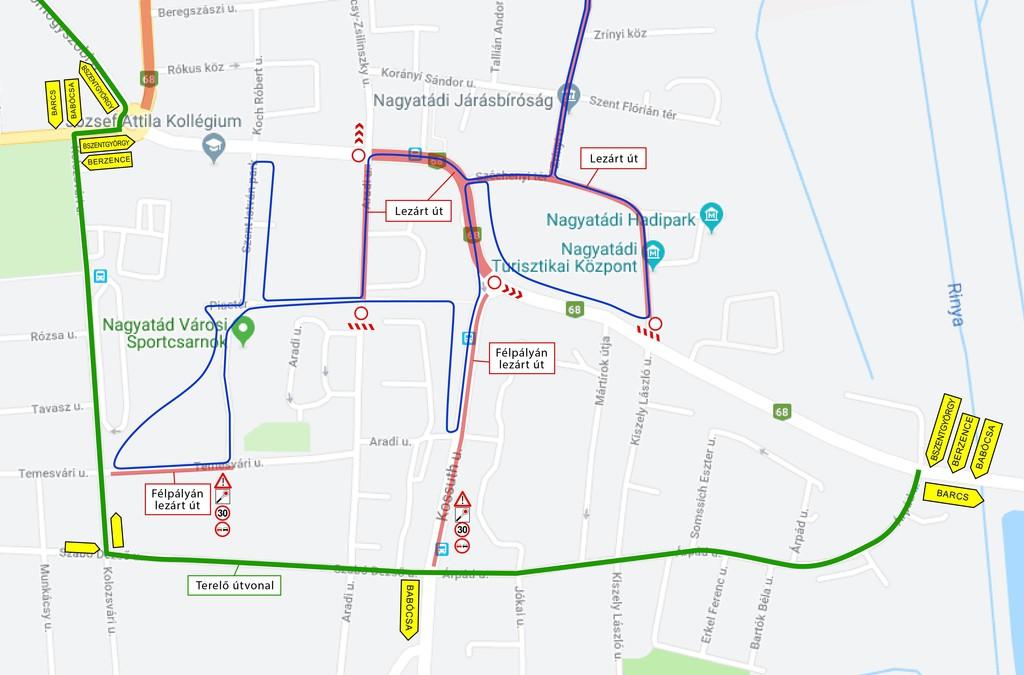 Ezeken a területeken lesz korlátozva a forgalom a verseny napján