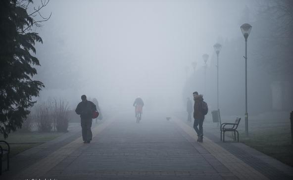 Sűrű köd, csúszós utak