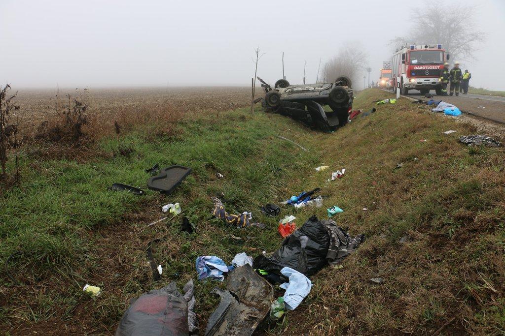 A kép 2019. 12. 08-án készült a Szőlősgyörök külterületén történt halálos balesetről.