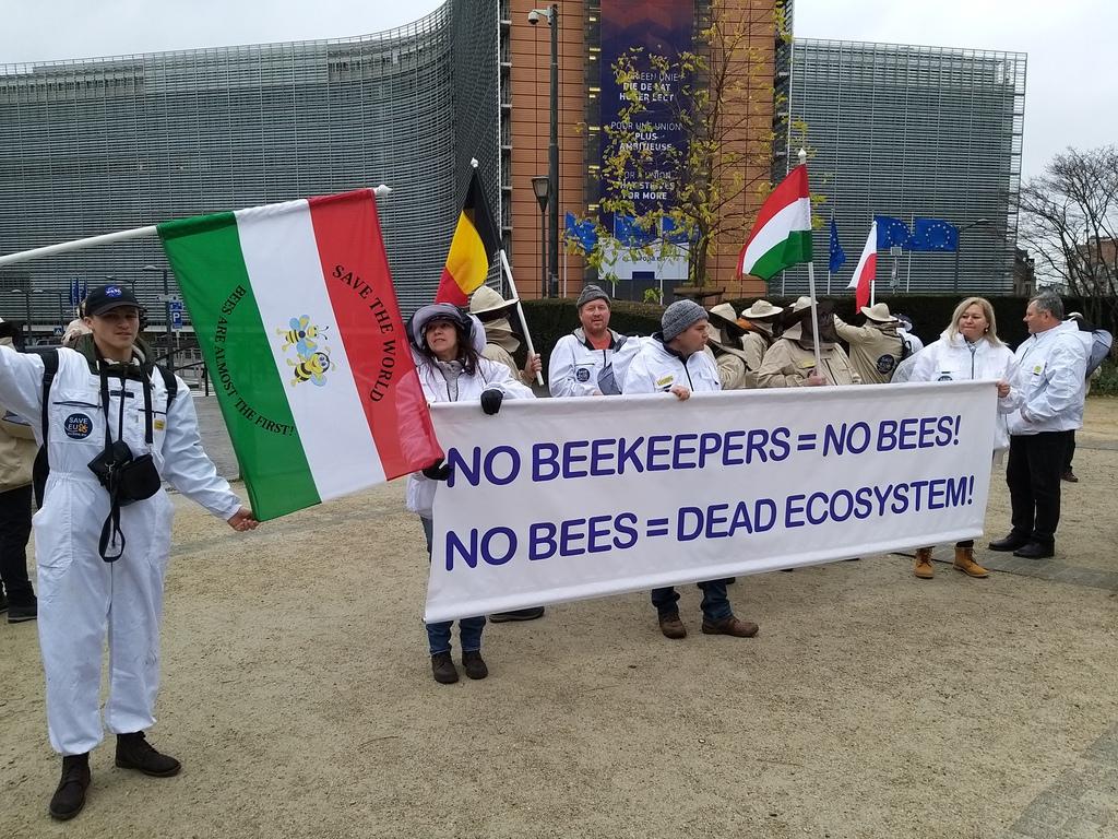 Magyar méhésztüntetés Brüsszelben