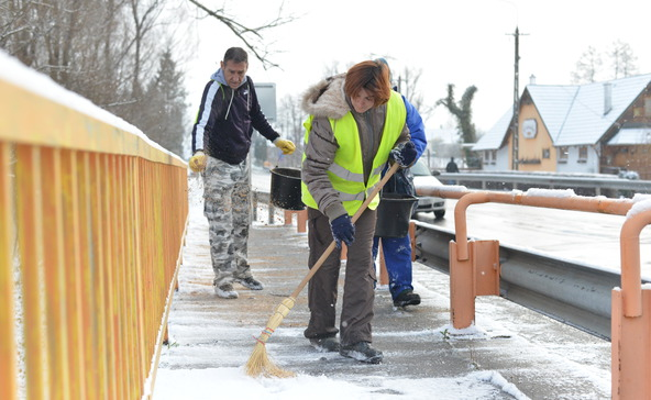 Jól készült Nagyatád: járható utak az első hóban
