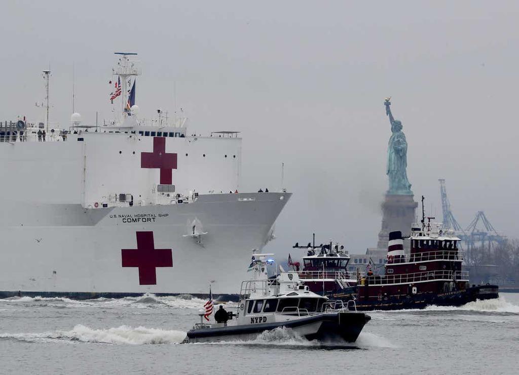 Befutott a USNS Comfort New Yorkba