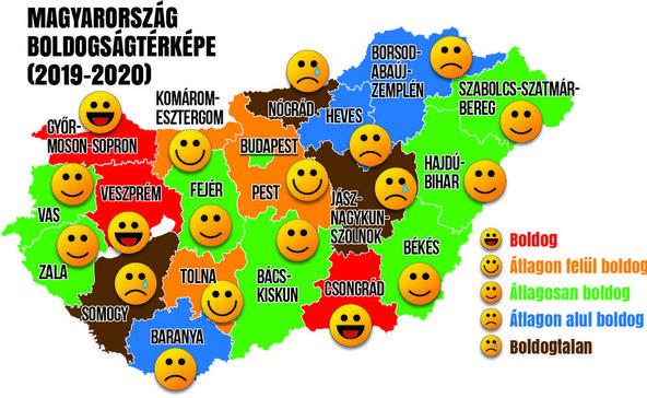 Itt az ország boldogságtérképe: Somogy nagyon nem az
