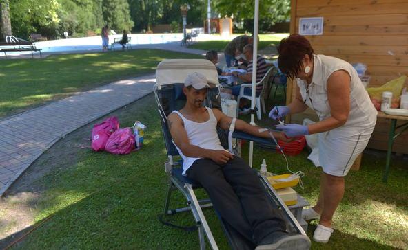 Több mint 60-an adtak vért a gyógyfürdőben
