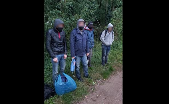 Négy illegális bevándorlót fogtak ma Berzencénél