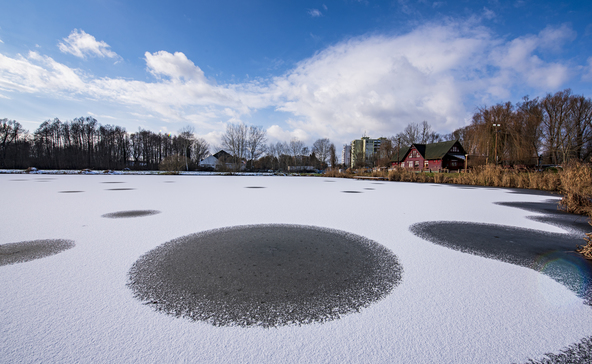 Csodás fotókon a havas Csótó és a Balaton