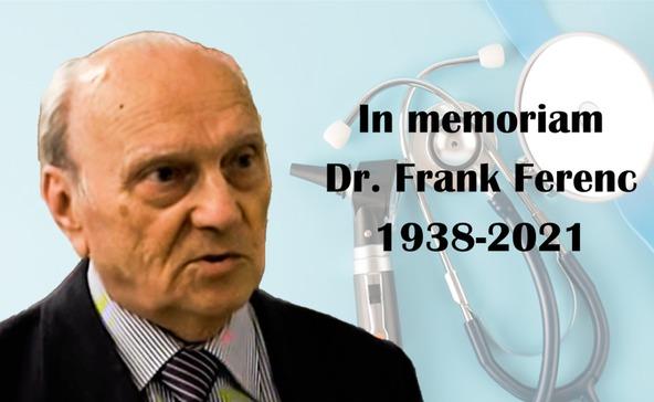 Elhunyt a nagyatádi kórház egykori főigazgatója, dr. Frank Ferenc