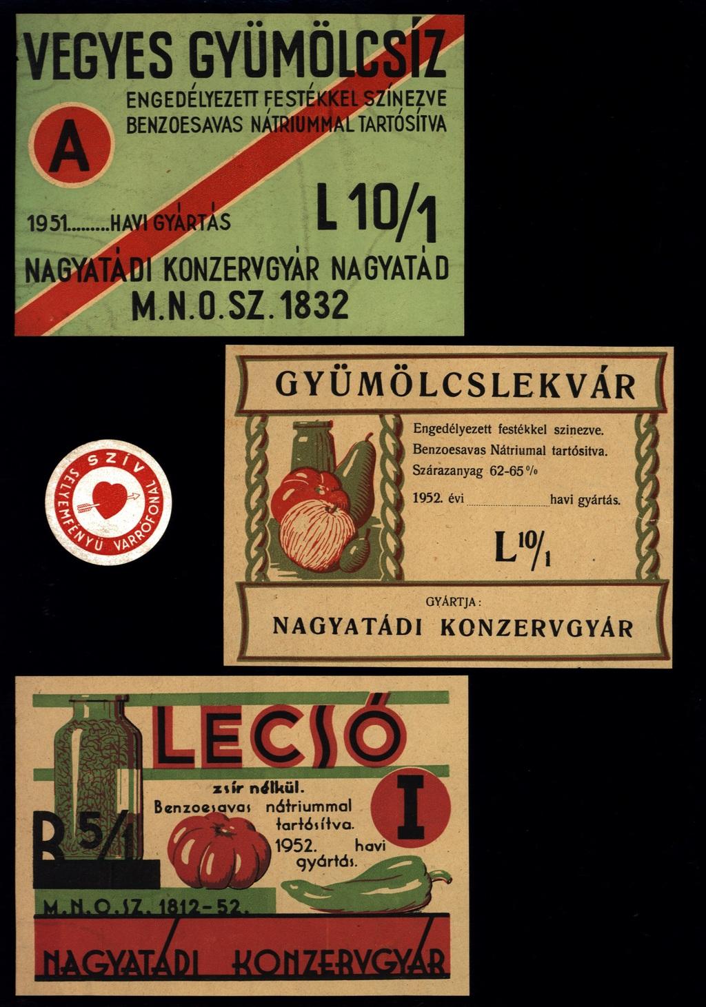 Termékcímkék az ötvenes évekből
