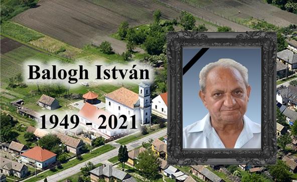 Elhunyt Bolhás szíve és motorja, Balogh István