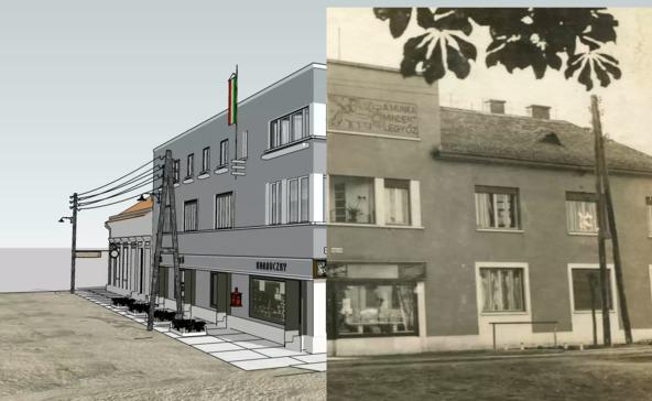 Megalkották az 1937-es Kossuth utca sarkának virtuális mását