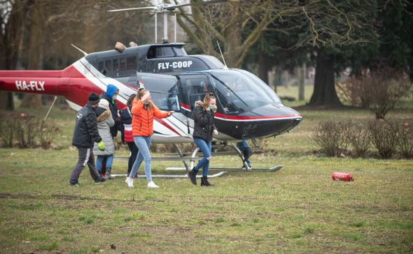 Helikopter köröz Nagyatád fölött