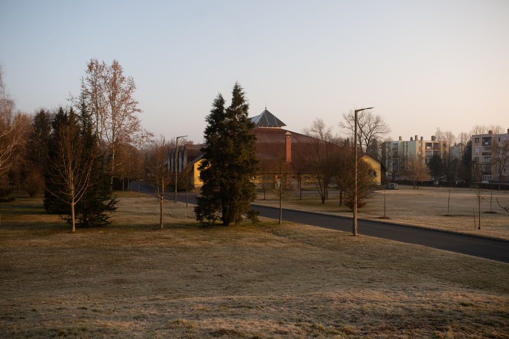 A Szent István park Nagyatádon