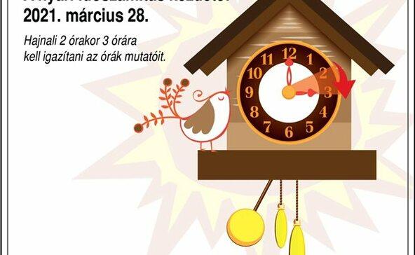 Vasárnapóraátállítás - Egy órával előre kell állítani az órákat