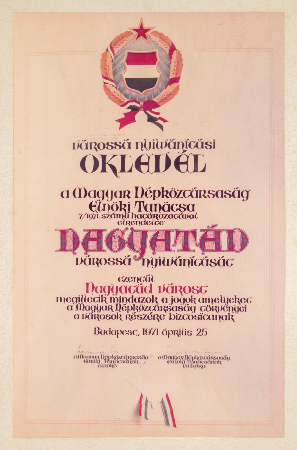 1971. április 25., Nagyatád