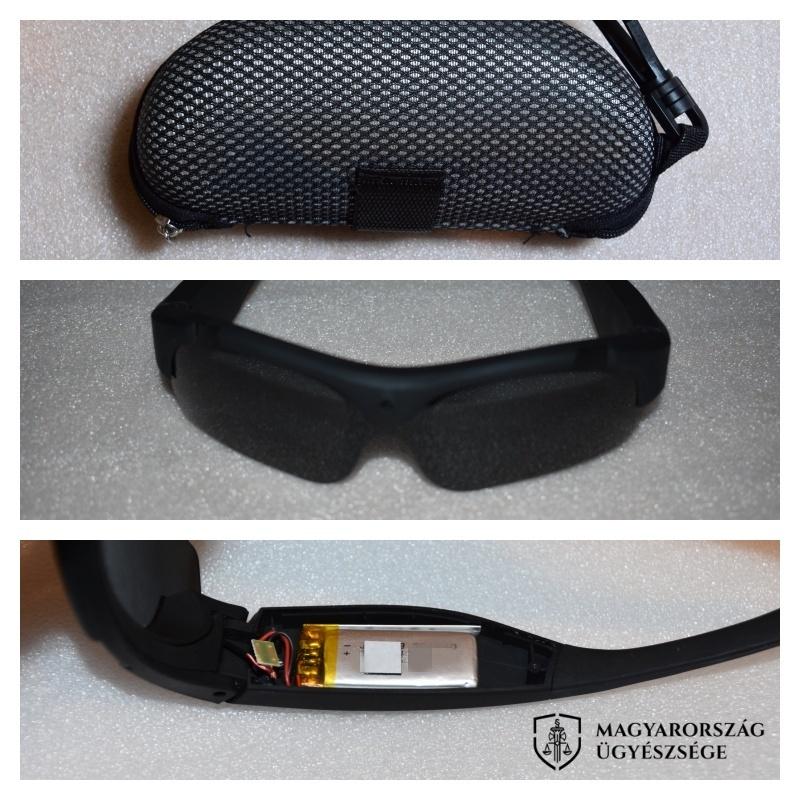 A napszemüvegről a fényképeket az igazságügyi informatikus szakértő készítette.