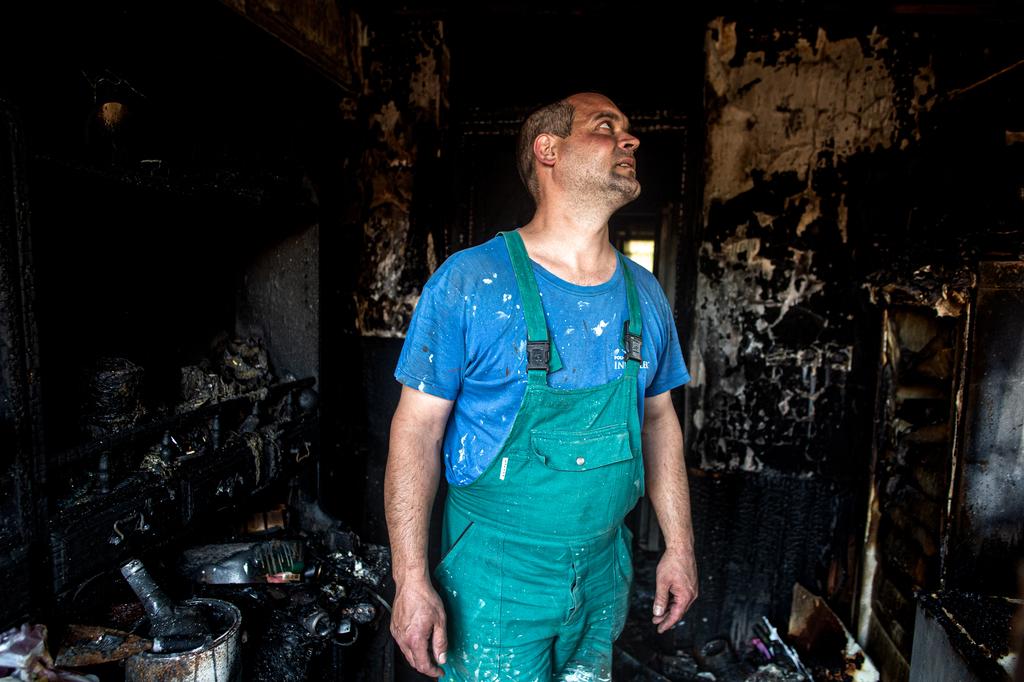 Az előszoba teljesen leégett, az egész házban bolyongott a füst