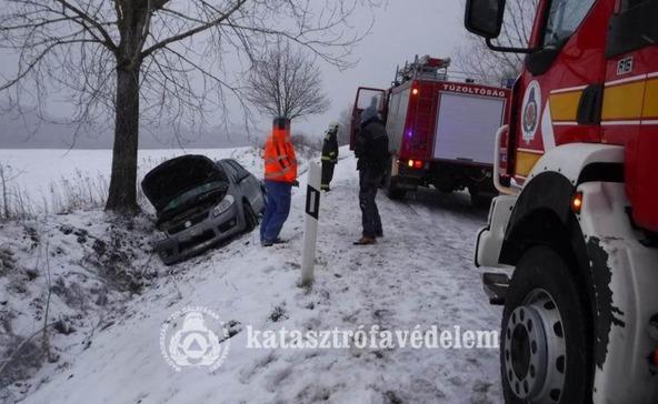 Somogy útjain két baleset történt eddig