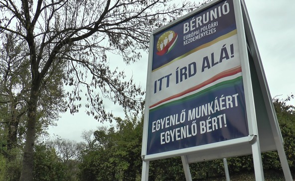 Aláírásgyűjtés a bérunióért