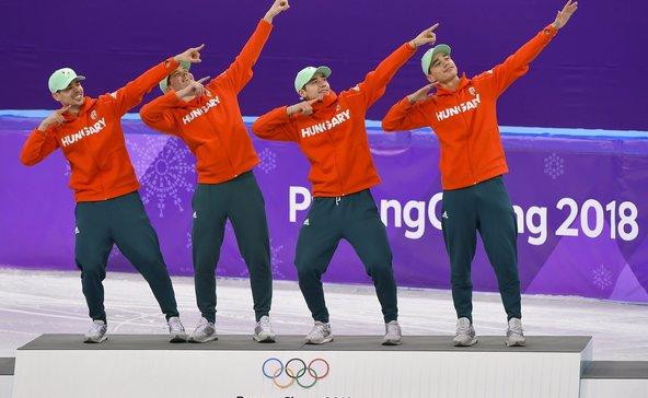 Olimpiai bajnokok a gyorskorcsolyázóink: Usain Bolt pezsgőjét várják!
