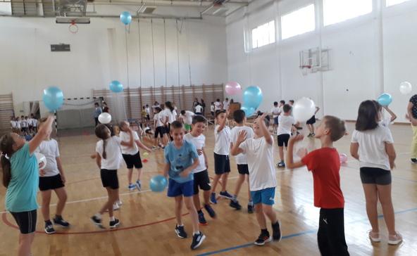 A Bárdos iskola diákjai is részt vettek a Magyar Diáksport napján