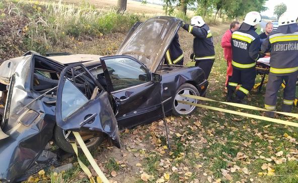 Kórházba vitték a Nagyatád melletti baleset két sérültjét