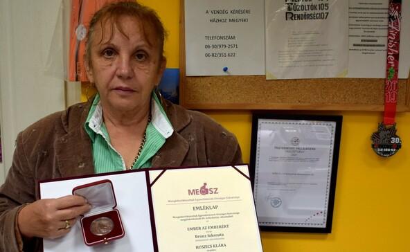 Ember az emberekért-díjat kapott Huszics Klára