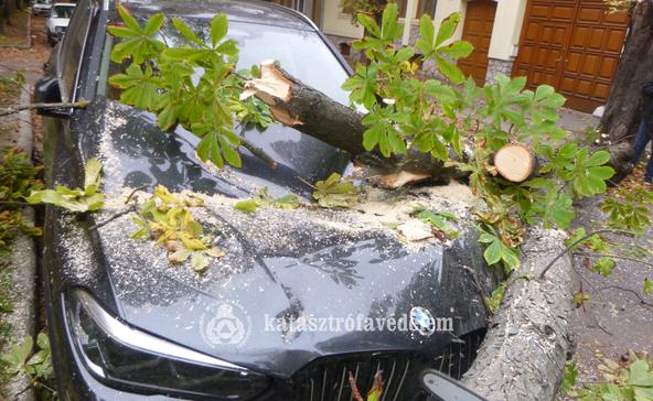 Autókat roncsolt össze, villanyvezetékeket szakított le a viharos szél