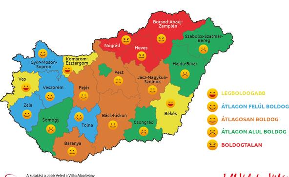 Itt az ország boldogságtérképe